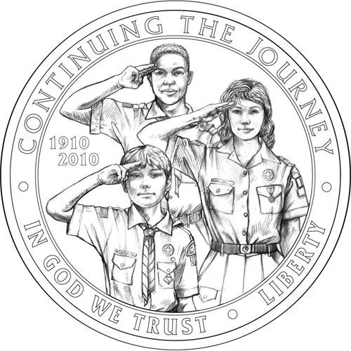 Памятная монета в честь 100-летия движения