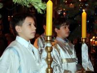 Первая детская литургия архиерейским чином