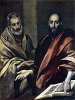 Эль-Греко (Доменико Теотокопули). Апостолы Пётр и Павел | www.painting.artyx.ru