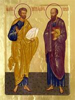 Икона святых апостолов Петра и Павла | www.pravcalendar.ru