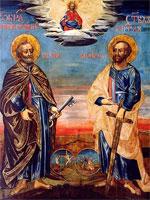 Икона святых апостолов Петра и Павла | www.ic-xc-nika.ru