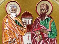Икона святых апостолов – вышивка на облачении