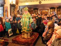 Архиерейское богослужение на праздник преподобного Сергия