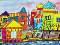 Рубан Елизавета, 8 лет, «Улица, на которой я живу»