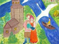 Валова Ксения, 12 лет, «Наша семья – широкая река, где вера и любовь – два берега»