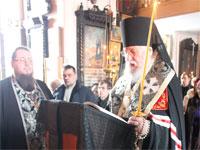 Чтение канона правящим архиереем