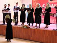 Выступление церковного хора