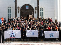 Участие учащихся школы Сергия Радонежского в Дне православной молодёжи в Астане