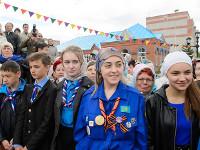 Дежурство скаутов у иконы Божией Матери «Казанская»