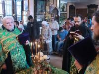 В храм Всех Святых прибыл ковчег с частицей мощей преподобного Севастиана Карагандинского