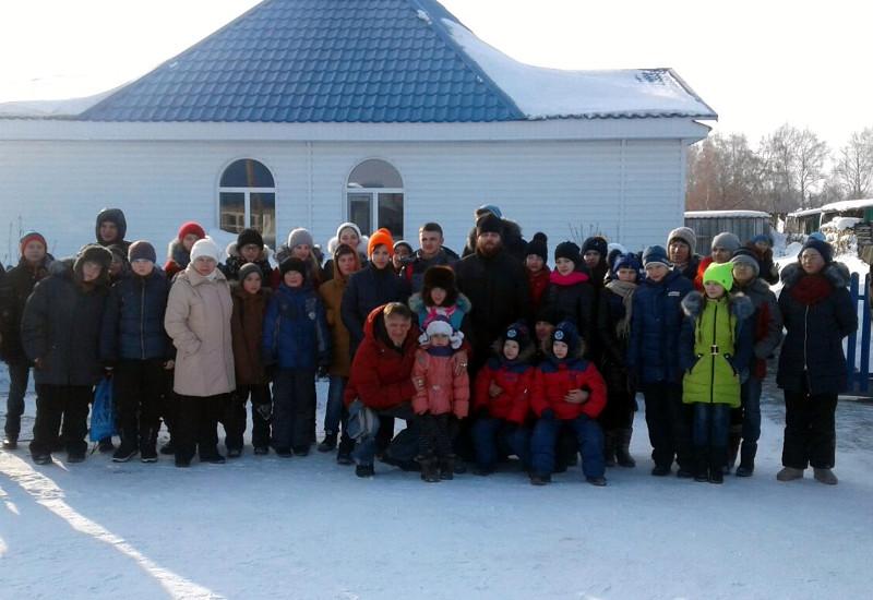 Зимний выезд в с. Токуши учащихся школы в честь прп. Сергия Радонежского