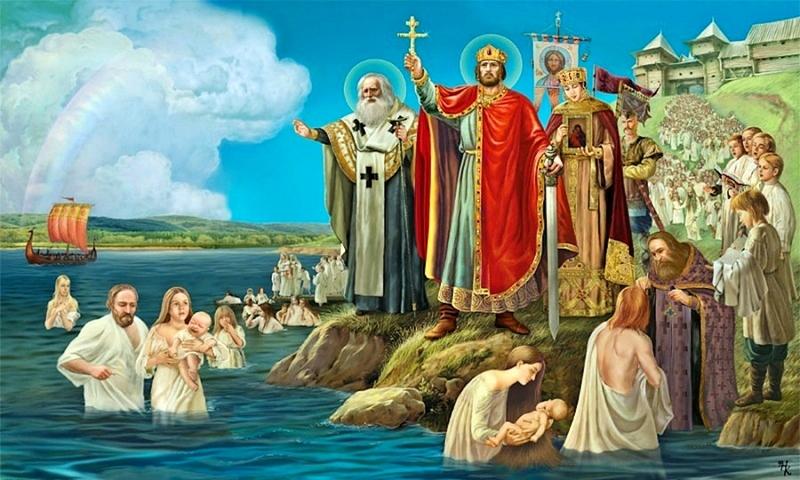 СЛУЖБА В ДЕНЬ ПРАЗДНОВАНИЕ КРЕЩЕНИЯ РУСИ И ДЕНЬ АНГЕЛА ПРАВЯЩЕГО АРХИЕРЕЯ