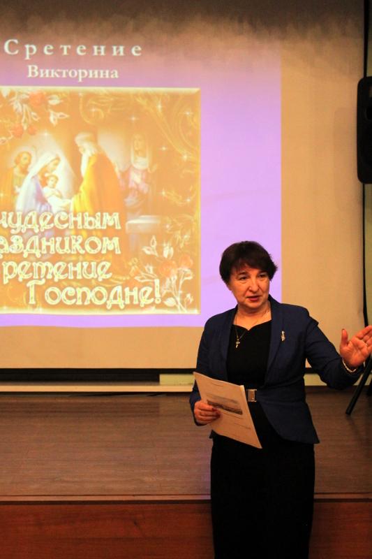 Праздник Сретения Господня для учащихся школы в честь прп. Сергия Радонежского