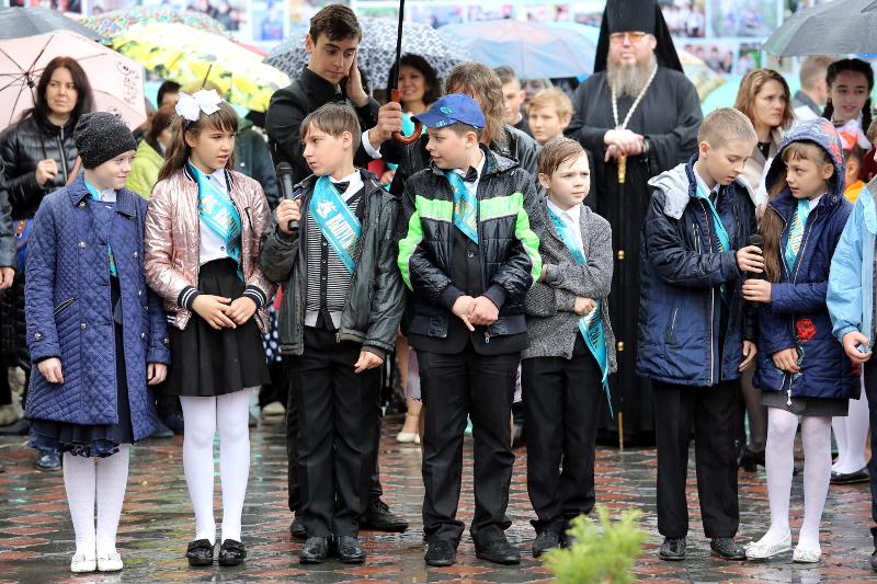 Последний Звонок в школе в честь прп.Сергия Радонежкого