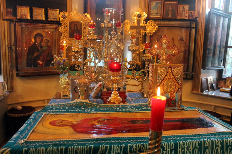 Служба Погребения Пресвятой Богородицы в Храме Всех Святых