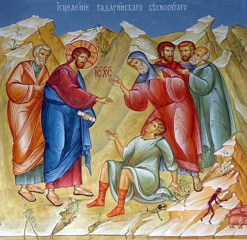 Воскресное богослужение об исцелении Гадаринского бесноватого