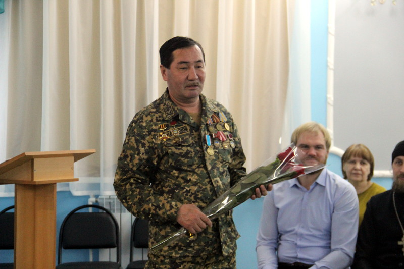 «Уроки мужества» в школе в честь прп.Сергия Радонежского