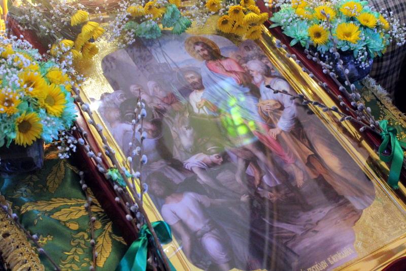 Вербное воскресенье в храме Всех Святых