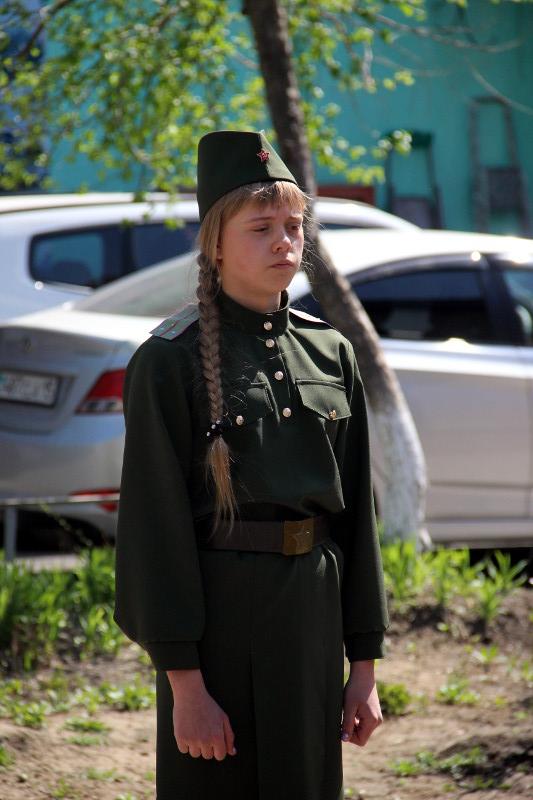 «Смотр строевой песни» в школе в честь преподобного Сергия Радонежского
