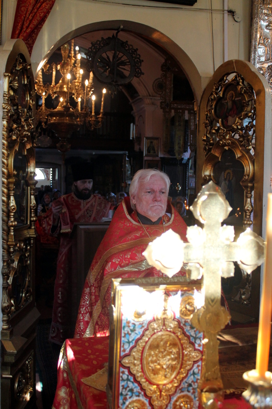 Праздник Рождества Иоанна Крестителя в храме Всех Святых