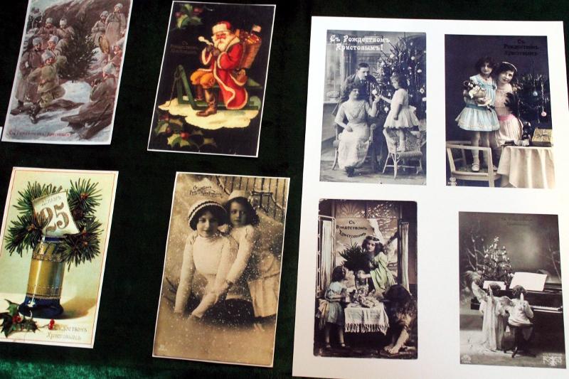 Выставка Рождественских открыток и ёлочных игрушек прошлого столетия в Епархиальном музее