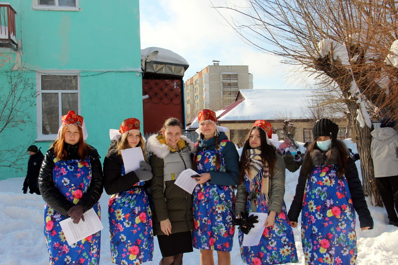 Масленичные гуляния в школе в честь прп. Сергия Радонежского