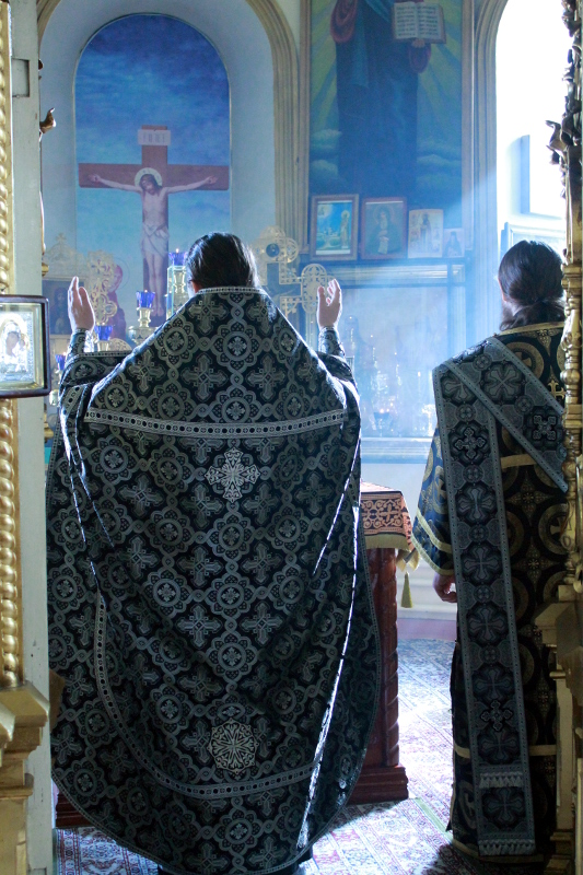 Литургия Преждеосвященных Даров и чин освящения колива в храме Всех Святых