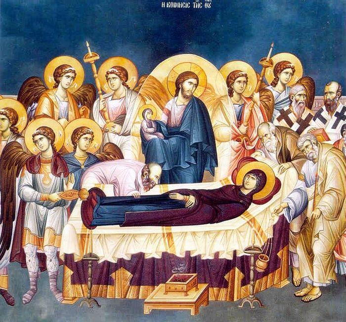 В храме всех святых был совершен Чин Погребения Пресвятой Богородицы