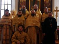 В алтаре храма св. Матроны (г. Алматы)