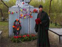 о.Николай Подлесный перед литией
