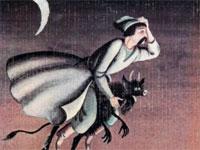 Кузнец Вакула верхом на чёрте | Фото с сайта www.chitalnya.ru